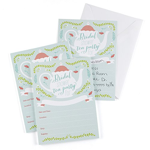 Hortense B. Hewitt 25 Count Bridal Shower Invitations, Tea Time ()