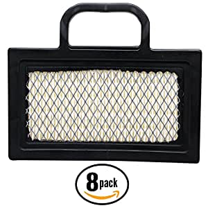 8-Pack Replacement Briggs & Stratton 40G777-0112-E1 Engine Air Filter - Compatible Briggs & Stratton 499486S Filter