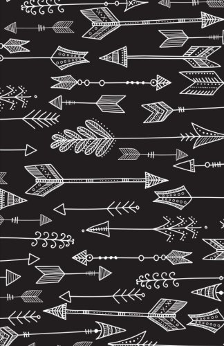 Bullet-Journal-Black-Boho-Arrows-Notebook-Dotted-Grid-55-x-85