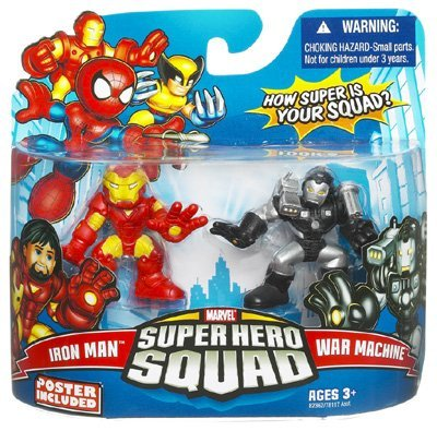 Marvel Superhero Squad Series 16 Iron Man & War Machine Action Figure 2-Pack