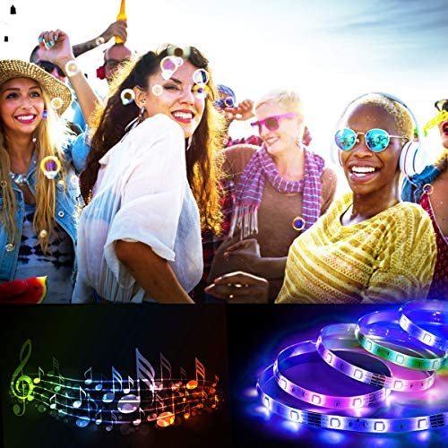 Smart LED Strip Lights 32.8 toes, Hedynshine 300pcs Chip Music RGB Strip Lights Color Change Strip Lights with Remote,Work with Alexa Google Home,Led Strip Lights WiFi