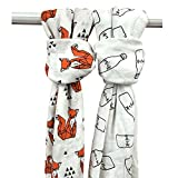Extra Soft Eco-friendly Organic Bamboo Muslin Baby Swaddle Blankets by Panda ...