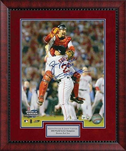 - Jason Varitek and Keith Foulke Double Autographed Photo Framed - 2004 World Series - Autographed MLB Photos