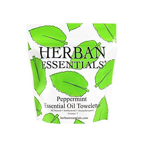 Herban Essentials Mini Peppermint Towelettes