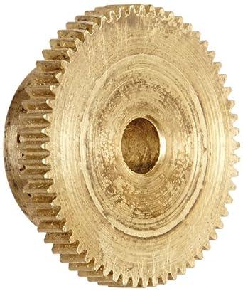 """Brass Pinion Gear 64P 20 Deg Pressure Angle 60Teeth x .188"""" Bore x .938"""" Pitch Dia"""