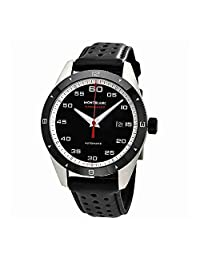 Montblanc TimeWalker Black Dial Automatic Mens Leather Watch 116061