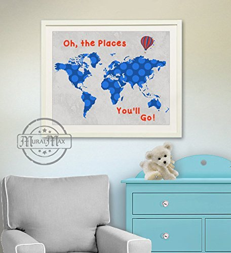 MuralMax Global Seuss Places Unframed