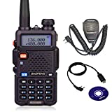 Baofeng UV-5R Two-Way Radio full Kit with BF-S112 Walkie Talkies Speaker and USB Programming Cable(Win10 Support) by JIZHENG