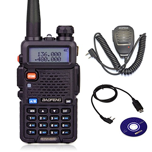 Baofeng UV-5R Two-Way Radio full Kit with BF-S112 Walkie Talkies Speaker and USB Programming Cable(Win10 Support) by - Two Speaker Kit Way