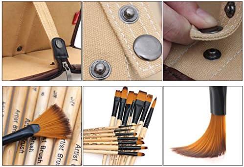 Museourstyty - Juego de 14 pinceles para pintar con estuche para lápices y pinceles de acuarela acrílicos: Amazon.es: Hogar