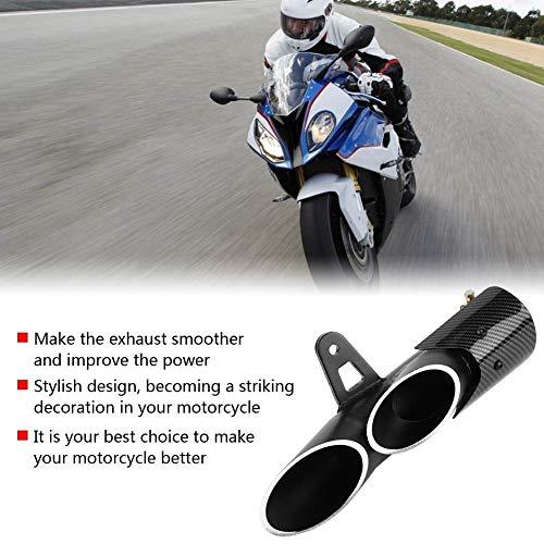 Silenciador de escape - 1 PC de deslizamiento de motocicleta Universal Glossy Black de 51 mm en el tubo de escape del tubo trasero del silenciador de ...