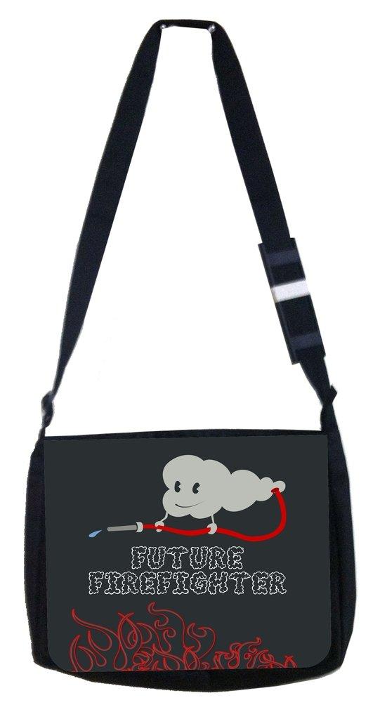 TM Medium Sized Messenger Bag 11.75 x 15.5 and 4.5 x 8.5 Pencil Case SET Future firefighter grey Rosie Parker Inc