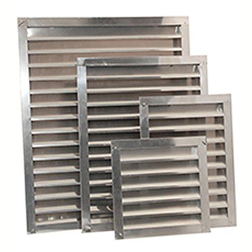(Ventamatic SGV1418 WHT Aluminum Wall and Gable Louvers, 14