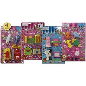 Amazon.com: 4 Packs - Pull-apart Erasers, Japanese Erasers ...