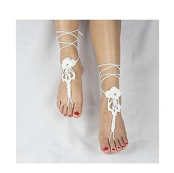 TT&SHOUSHI Damenmode häkeln Baumwolle barfuß Fußkette Fußkette ...
