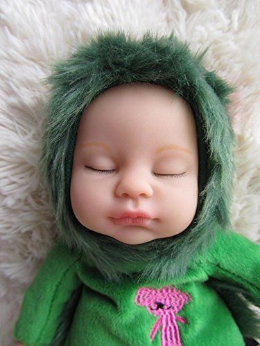 """Baby Doll,Bonpep 10"""" Charming Pastel Lifelike Realistic Plush Baby Doll Lion for Children 2 Years +(Green) Best Choice for Monther's Day"""