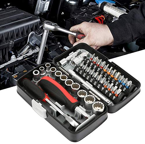 SYF-SYF ラチェットハンドル付き38pcsのミニソケットスパナセットソケットレンチとスクリュードライバーツール スパナ