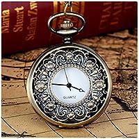 Nadition Vintage Bronze Tone Spider Web Design Chain Pendant Men's Pocket Watch Gift
