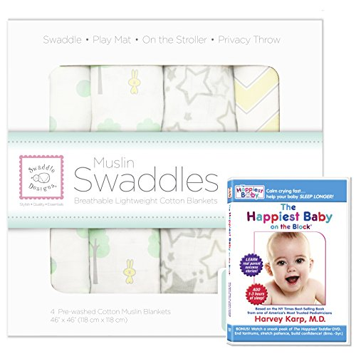 SwaddleDesigns Blankets Happiest SeaCrystal Woodland