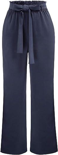 كيت كاسين المرأة عارضة السراويل مرونة عالية الخصر مع جيوب عداء ببطء