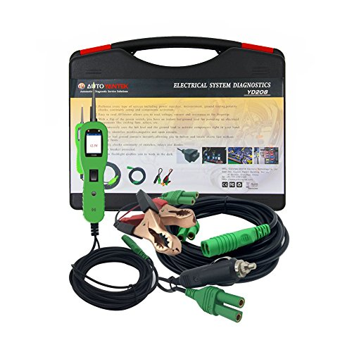 YD208 Car Electric Circuit Tester Automotive Tools Auto 12V-24V Voltage Power Probe Same as PS100 Electrical System Tester by Outzone