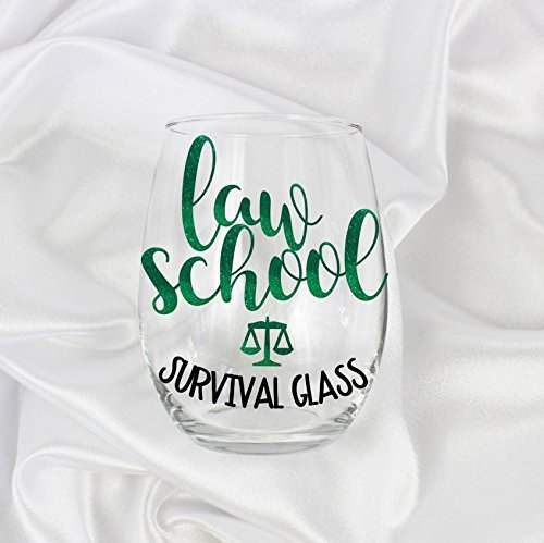 Law School Survival Glass 21 Ounces Stemless Wine Glass Gifts 005