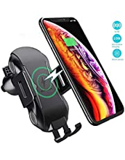 Wireless Car Charger, Automatic Clamping Gravity Car Mount Air Vent Phone Holder 10W Compatible with Samsung Galaxy S10/S10 Plus/S9/S9 Plus/S8, 7.5W Compatible for iPhone 8/8 Plus/X/XS/XR …