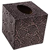 MYtodo Creative Square Home Sitting Room Office Pumping Tray Leather Tissue Box (Rose)