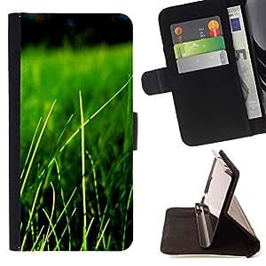 BullDog Case - FOR/Apple Iphone 6 PLUS 5.5 / - / Nature Beautiful Forrest Green 84 /- Monedero de cuero de la PU Llevar cubierta de la caja con el ID Credit Card Slots Flip funda de cuer