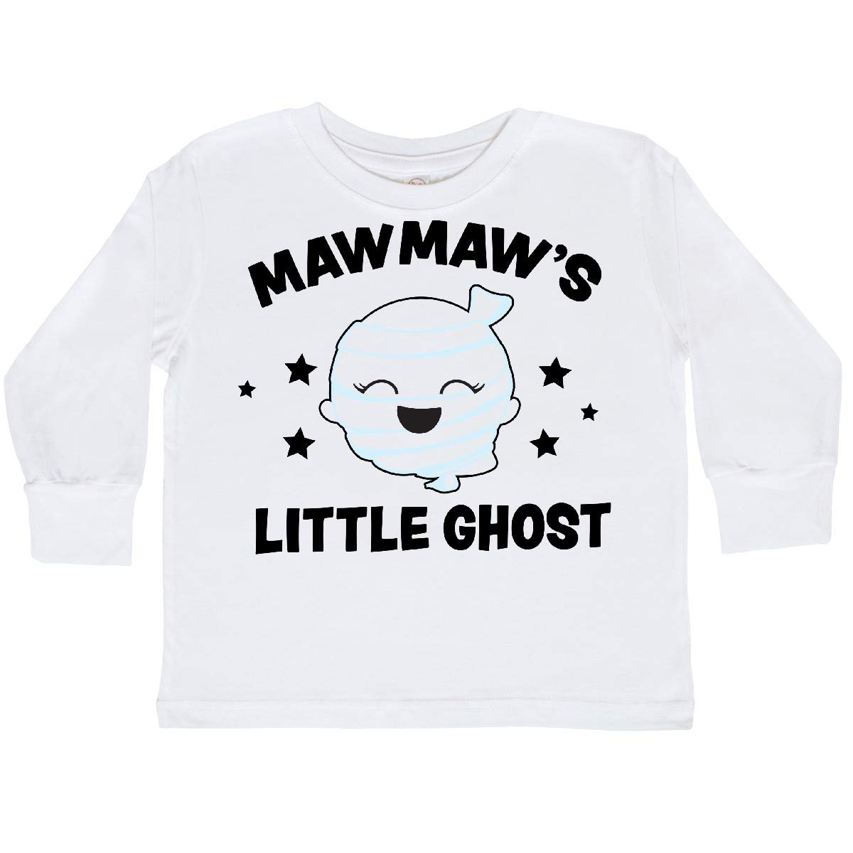 inktastic Cute Mawmaws Little Ghost with Stars Toddler Long Sleeve T-Shirt