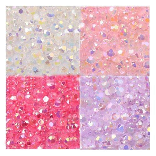 LOVEKITTY --- 800 pcs 3mm Mixed AB Jelly Rhinestones / Gems Round Flatback 14-Facet (High Quality) Hello Kitty Gems