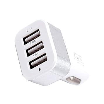 Arichtop DC 5.0V 2.1A Adaptador / 2A / 1A Coche Universal 3 Puertos USB Cargador de teléfono de Carga rápida Enchufe USB