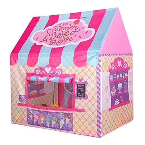 (Unichart Kid Princess Indoor Outdoor Playtents Ice Cream and Bakery Shop Play Tent,Pink)