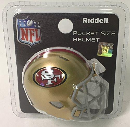 (San Francisco 49ers Riddell Speed Pocket Pro Football Helmet - New in package)