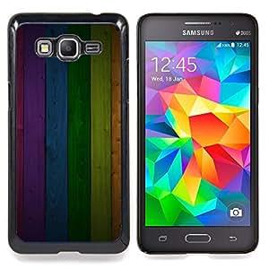 For Samsung Galaxy Grand Prime SM-G530F G530FZ G530Y G530H G530FZ/DS , Modelo de la textura del panel del arco iris Líneas - Diseño Patrón Teléfono Caso Cubierta Case Bumper Duro Protección Case Cover Funda