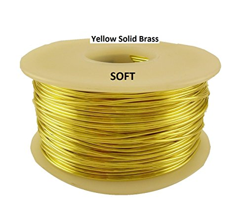 26 Ga Solid Brass Wire 1/4 325 Ft. Spool (Soft) Made in USA Solid Brass Wire
