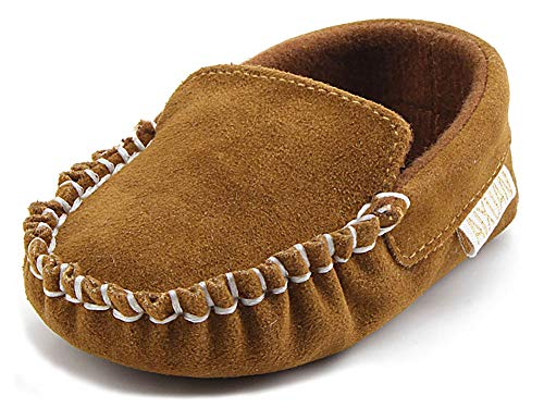 Anrenity Baby Loafer Infant Toddler Boys Girls Soft Slip On Gommino Classic Boat Shoes DDX-001BR Brown 0-6 Months ()
