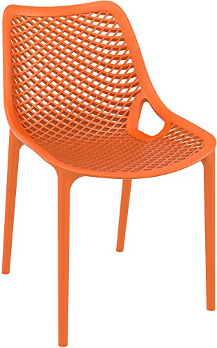 Clear Chair Store 014O Air Indoor and Outdoor Stacking Chair (Set of 4), Orange