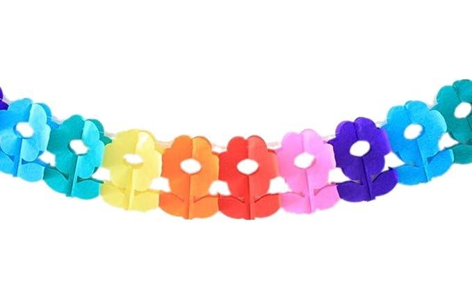 Ventana Tratamiento para colgar flores de papel de color en ...