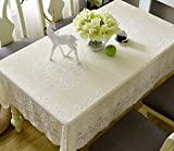White lace tablecloth rectangular cloth european style hollow cover cloth-E 80x80cm(31x31inch)