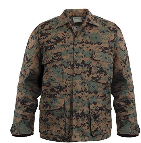 Mens Woodland Digital Camouflage Military BDU Shirt Uniform Army Coat Fatigues