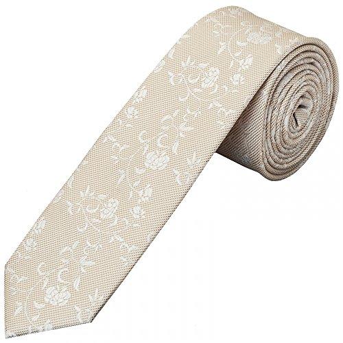 TiesRus and Floral Handkerchief Champagne Tie Skinny Set Men's prpvwq