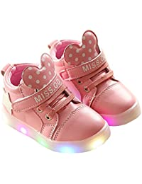 Kids Cartoon LED Light Up Shoes Casual Sneakers For Girls Boys