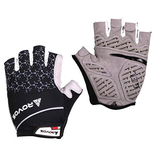 Mountain Bike Gloves Gel Padded Bike Men Gloves Brethable Sports Gloves(Black,Medium) (Gel Bike Gloves)