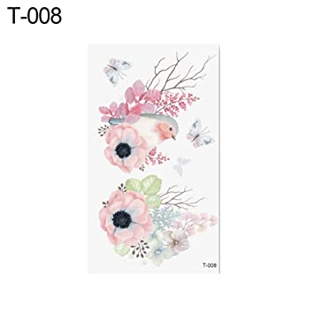 41729254bf14d Amazon.com: Womens Waterproof Temporary Hand Body Art Tattoo Flower ...