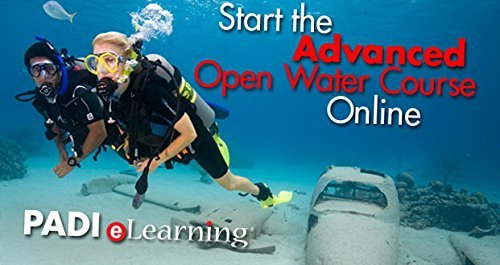 PADI Online Advanced Open Water Diver Course Scuba Diving eLearning Certification On Line Classroom Dive Books Intermediate Class (Water Padi Open)