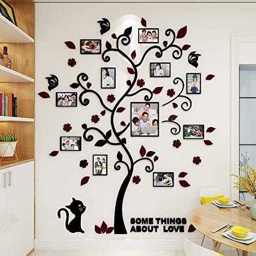 Vinilo DIY 3D acrílico de pared foto árbol de la familia