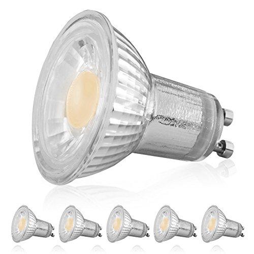 Mr16 Led Light Bulbs 50w: LEDERA MR16 GU10 Dimmable LED Bulb, 5W(35W-50W Equivalent