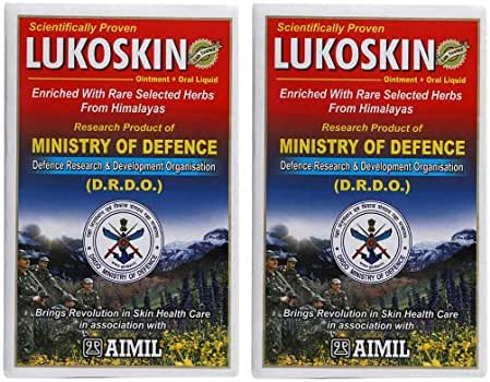 Aimil Lukoskin Combo of Ointment(40gm) and Oral Liquid(100ml) | (Pack of 2) | Scientifically Proven Ayurvedic Remedy for Vitiligo and Leucoerma