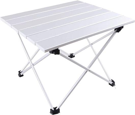 TRIWONDER Mesa Plegable para Acampada Ligera Aleación de Aluminio Portátil Mesa de Comedor Playa Picnic Camping Jardín al Aire Libre